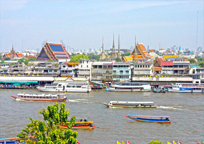 River in Bangkok from Wat Arun
