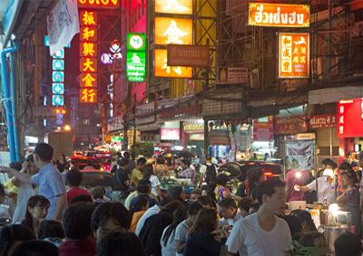 Yaowarad Road in Chinatown Bangkok