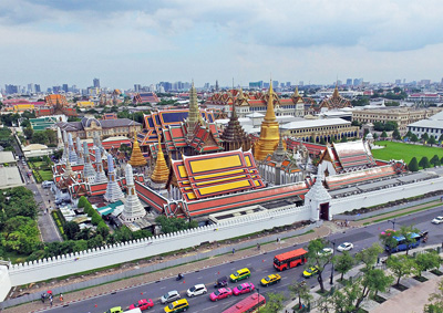 Grand Palace from the sky