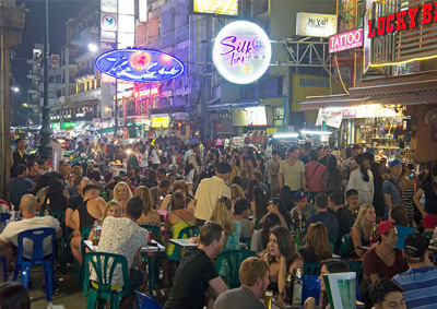 Khao San Road during a Friday night