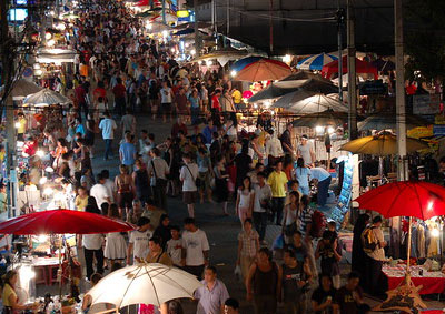 Chiang Mai Sunday walking street night market