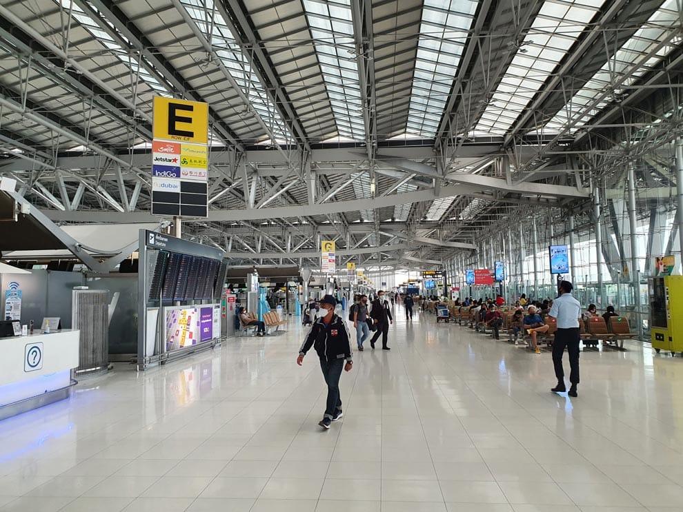 Bangkok Airport during covid