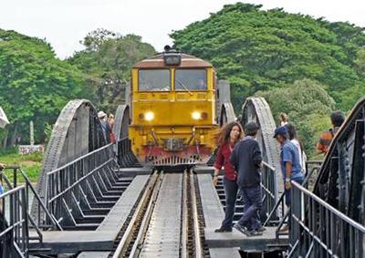 Train in Kanchanaburi