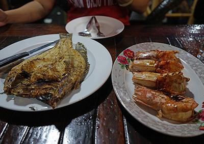 Thai sea food in Koh Lipe