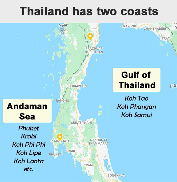 Thailand southern coast