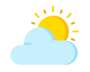 Icon of a sun and a cloud