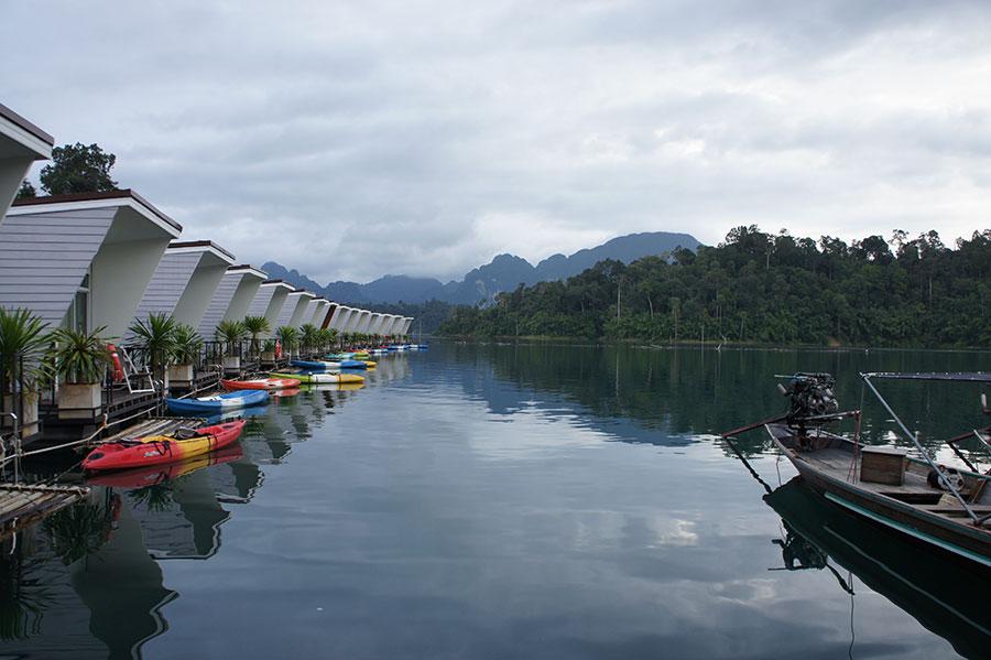 Floating Houses Chiew Lan Lake Khao Sok