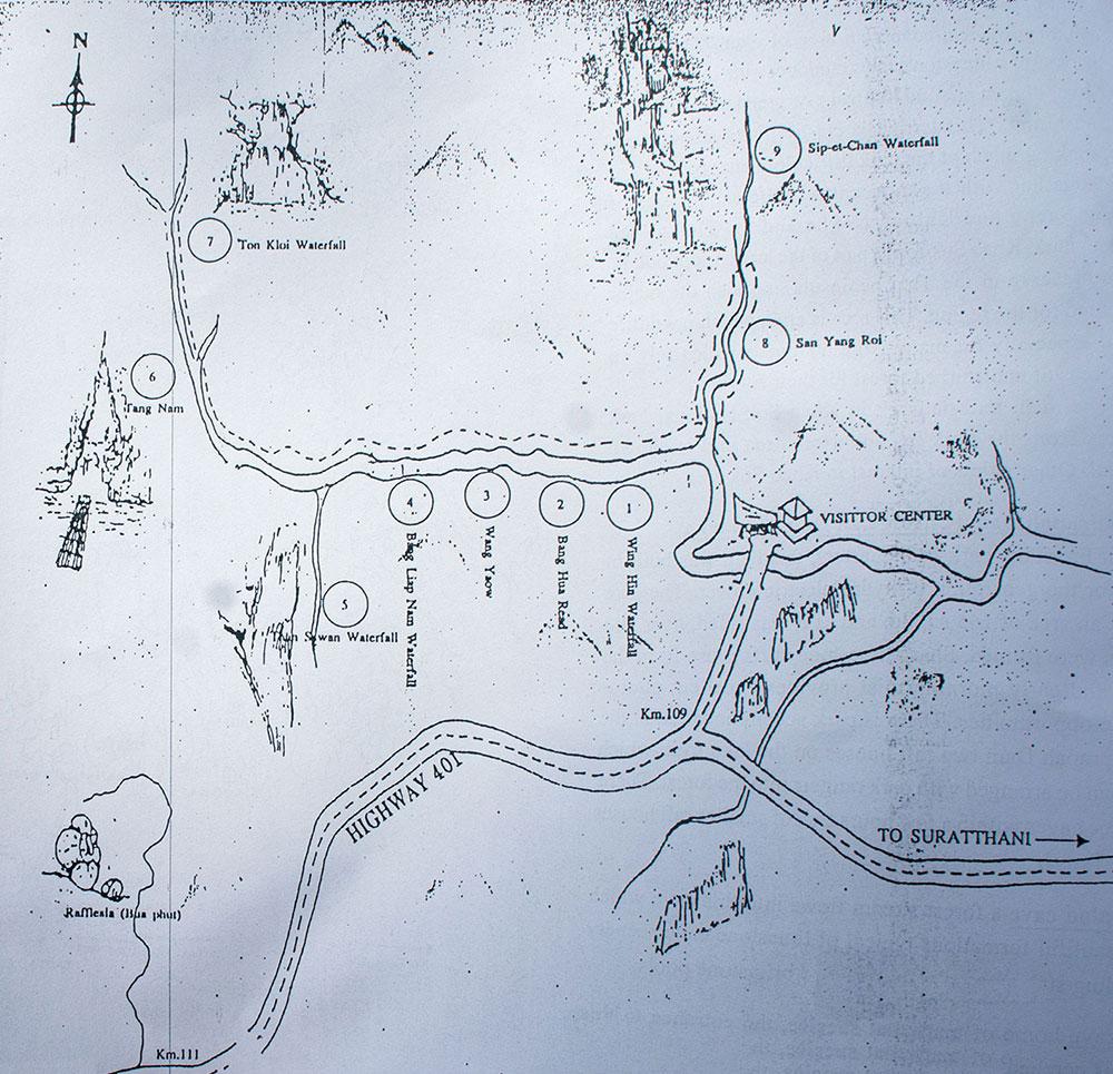 Khao Sok Hiking Map