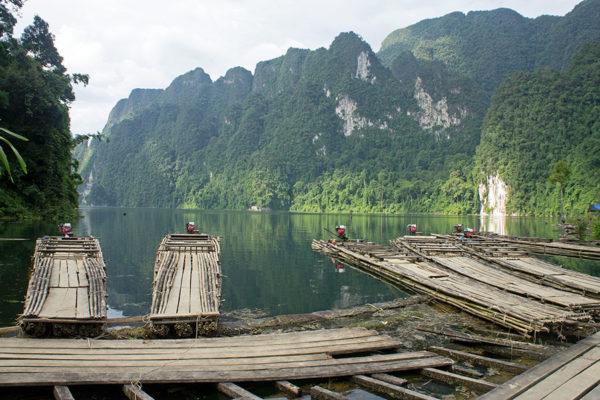 Khao-Sok-bamboo-and-wood-motorized-rafts