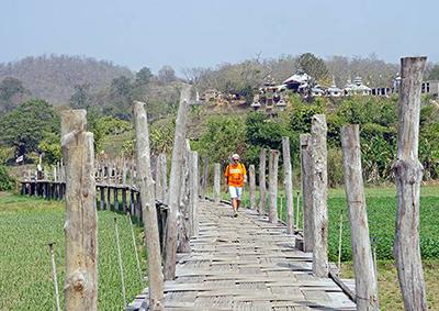 Bamboo Bridge, Mae Hong Son, Thailand