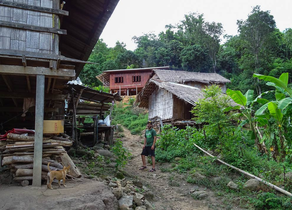 Tourist in a Hill Tribe in Thailand