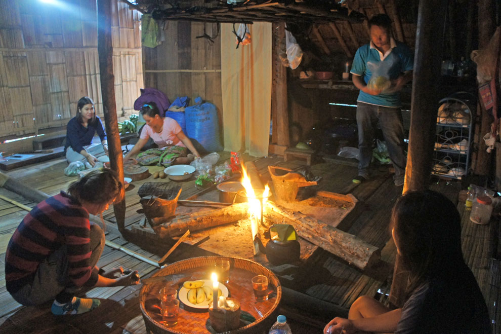 Kitchen of a Lahu