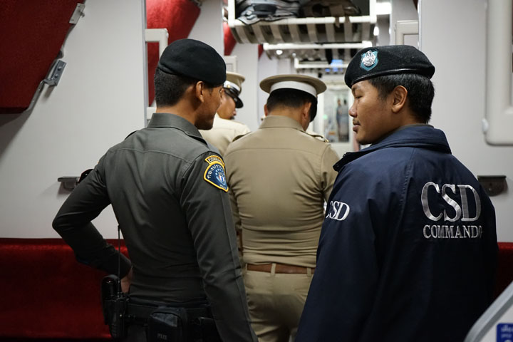 Police in the train