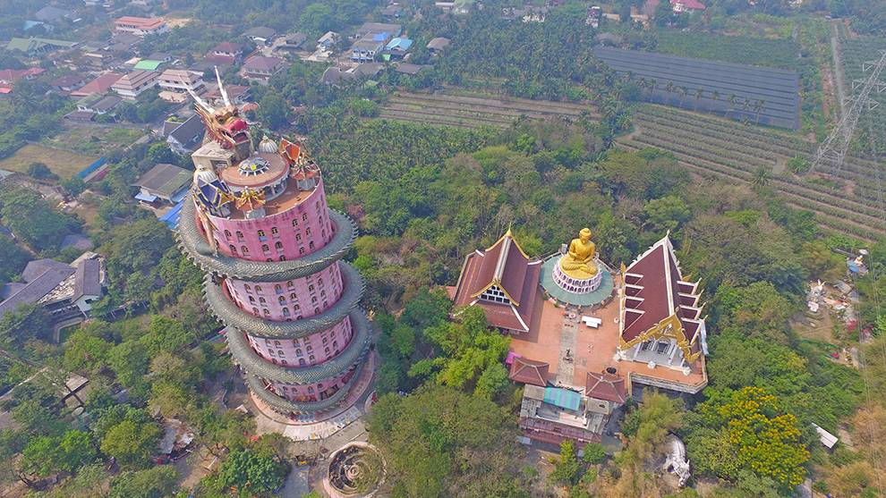Temple of the Dragon from the sky