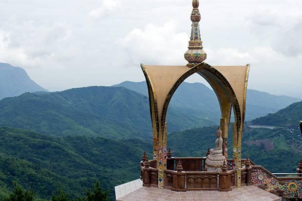buddha among mountains