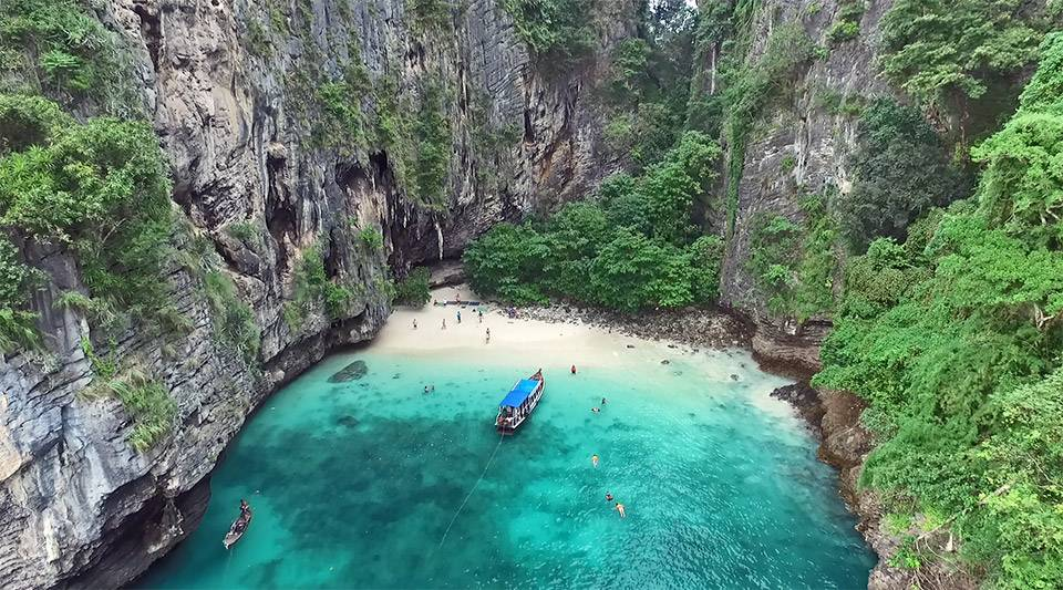 hidden beach poda thailand
