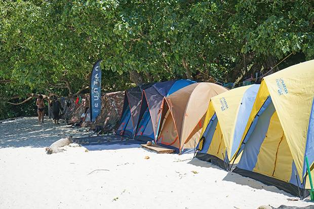 koh surin tents