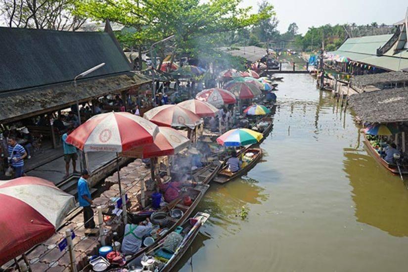 tha kha market thailand