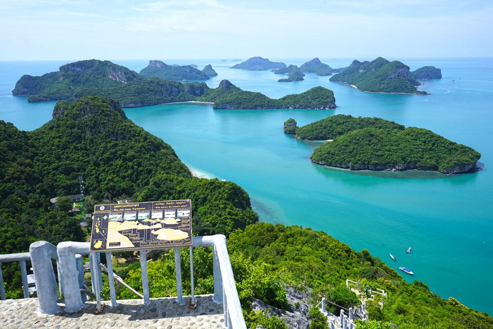 Ang thong from its viewpoint