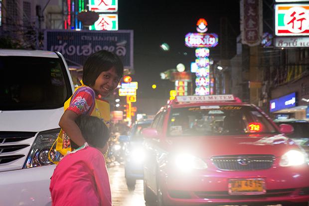 Girls in Bangkok's Chinatown