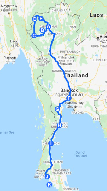 ALTERNATIVE TRIP THAILAND MAP