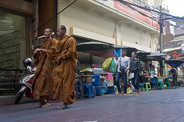 monks in chinatown