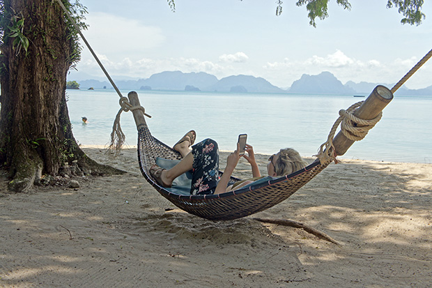 being lazy in koh yao noi