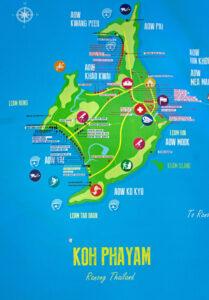 map of koh phayam