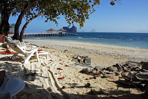 beach next to pier