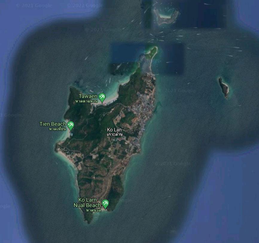 Map of Koh Larn