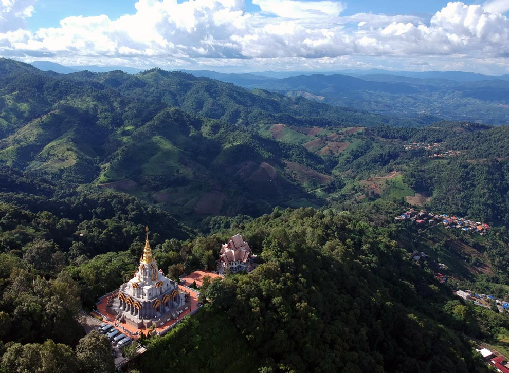 Santi Khiri Temple from a drone point of view
