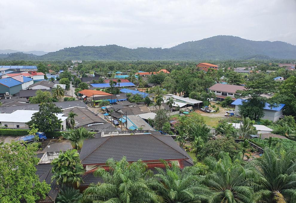 Views of Ranong from Tinaidee Hotel